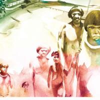 Ilustração para revista Muito. Tema: Paisagem Histórica. Técnica: aquarela