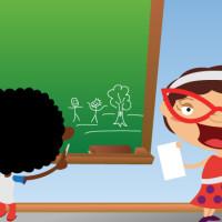 Ilustração para cartilha. Tema: trabalho infantil. Técnica: pintura digital