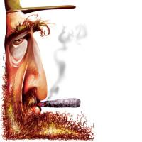 Fidel Castro – Técnica: pastel seco