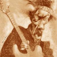 Jimi Hendrix – Technique: pastel