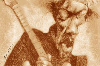 Jimi Hendrix – Técnica: pastel